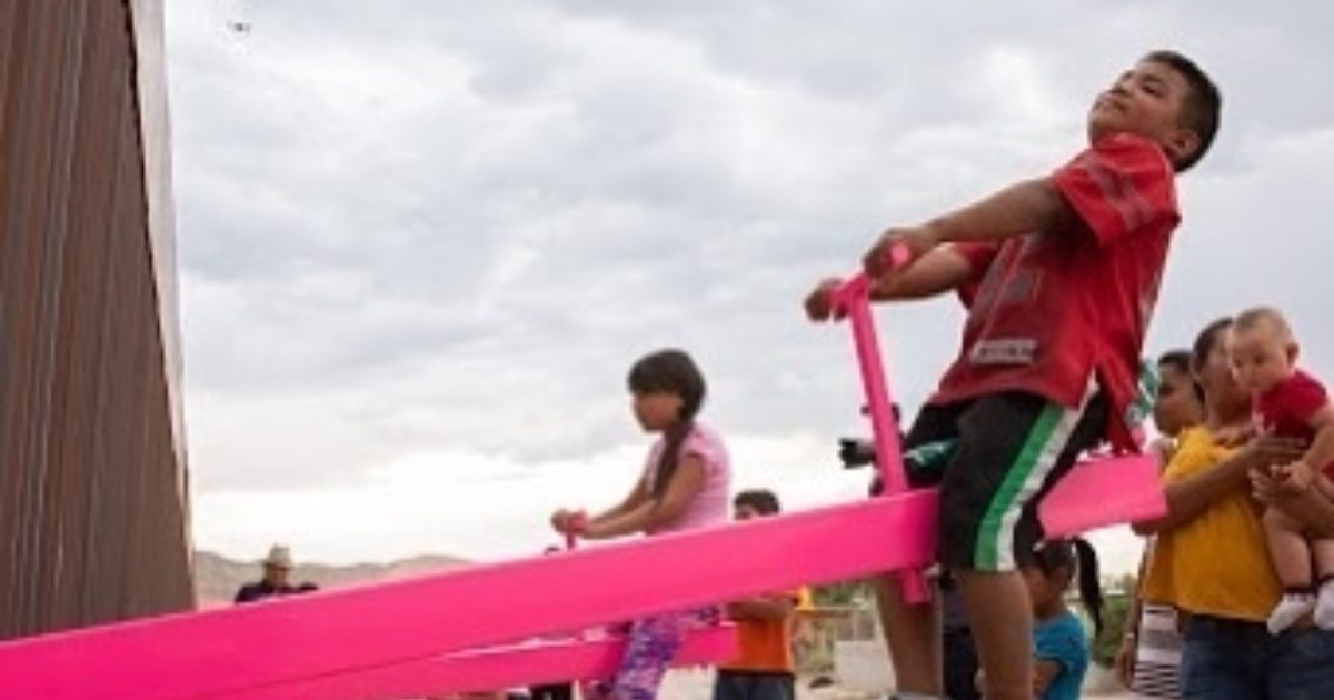 The pink seesaw at the US-Mexico border was 10-years in the making